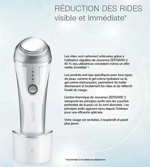 JOUVENCE ZEITGARD traitement anti-âge à action thermique et vibrations