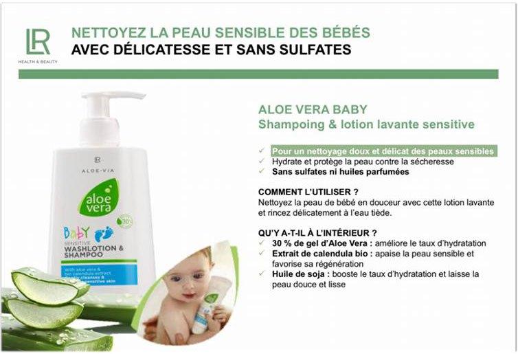 Aloe Via 2 en 1 shampooing et lotion lavante pour bébé