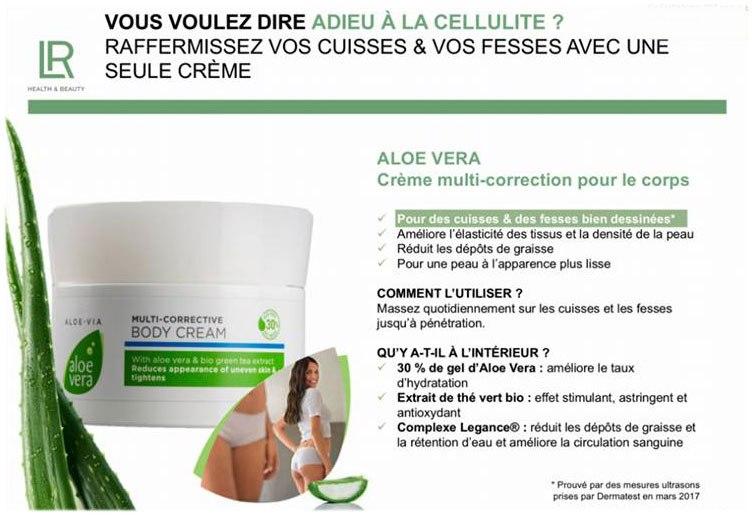 Aloe Via crème multi-correction pour lutter contre la cellulite