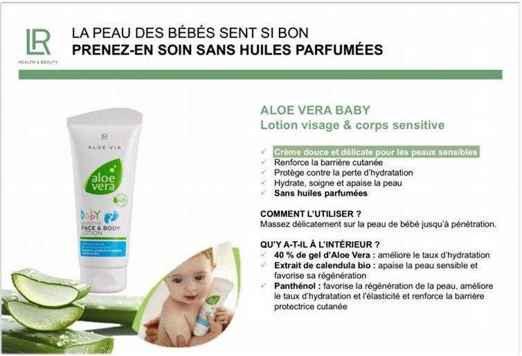 Aloe Via lotion crème visage et corps pour bébé