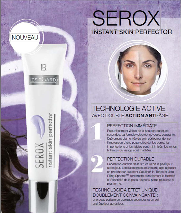 Serox-Instant-Skin-Perfector - Le soin anti-âge de technologie aux 2 effets anti-âge : Perfection immédiate & Perfection durable
