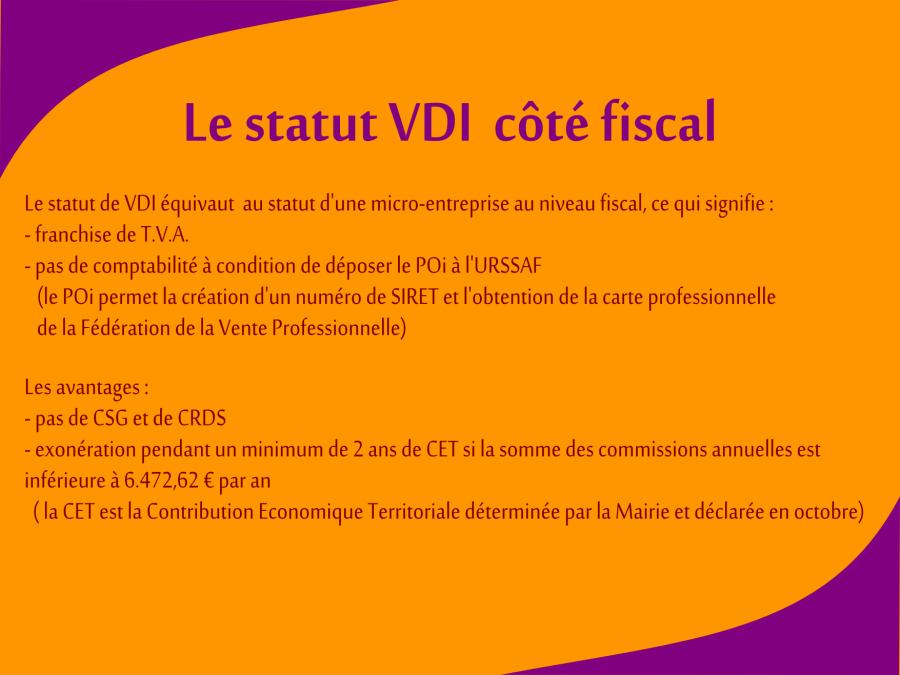 Le statut VDI côté fiscal