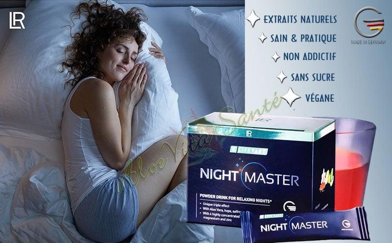 Bien dormir et sommeil réparateur avec le complément naturel LR LIFETAKT Night Master