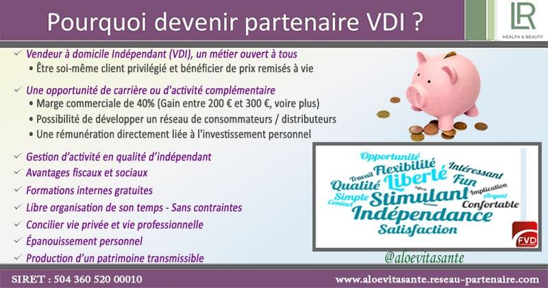 Avantages à devenir partenaire LR en VDI !