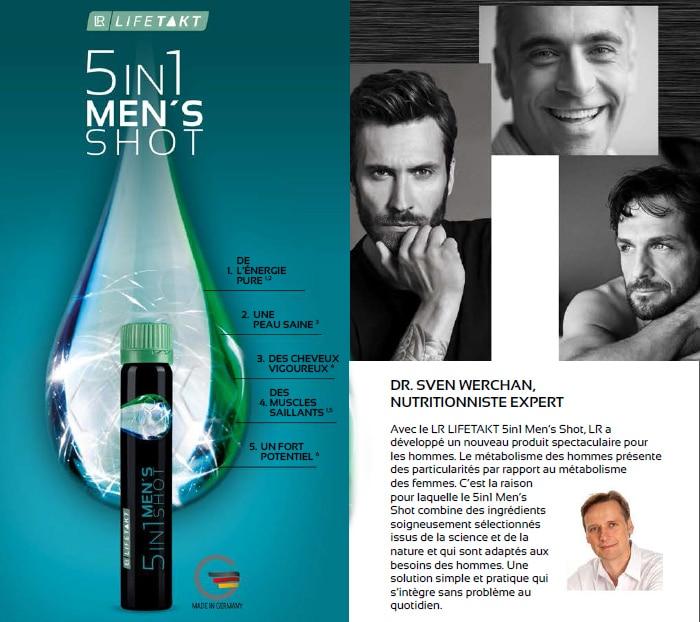 Nutricosmétique pour hommes : LR Lifetakt 5en1-Men's tout ce dont 1 homme a besoin en un seul shot