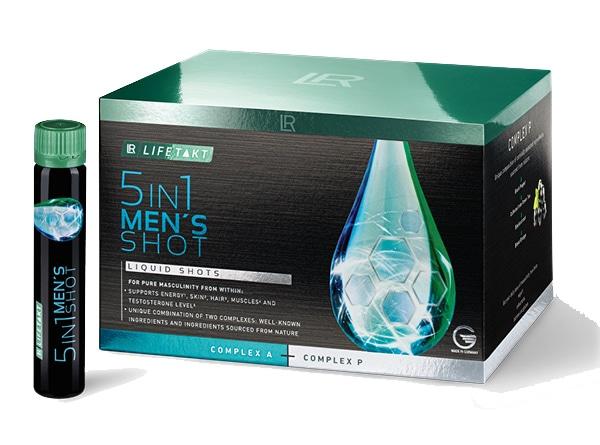 Nutrocosmétique LR Lifetakt 5in1-Men's-Shot, un soutien quotidien pour tout ce qui est important pour les hommes