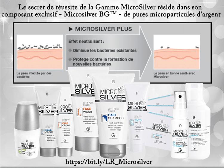 La gamme antibactérienne LR MicroSilver Plus