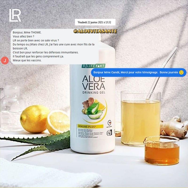 Témoignage d'un client concernant la cure du drinking gel aloe vera